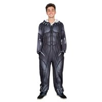 Marvel Comics Black Panther Zip up One Piece Pajama Union Suit