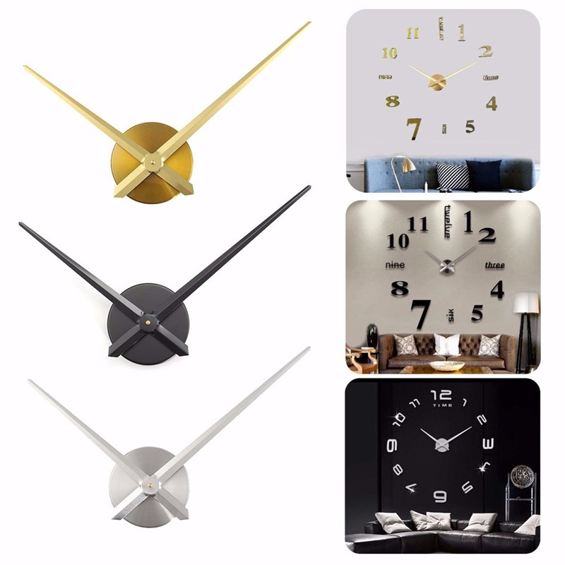 Modern Glossy Aluminum Silence Large Quartz Wall Clock Movement Hands Mechanism DIY Repair Tool Replace Parts Kit set