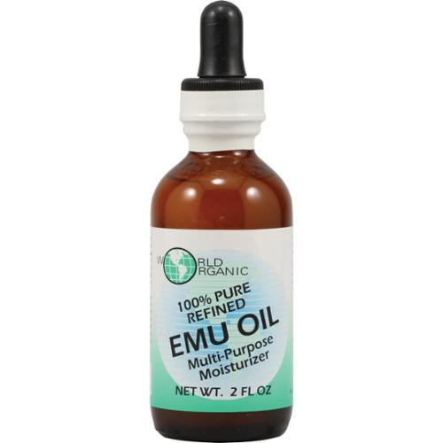 EMU Oil 100% pure w/Dropper World Organics 2 oz Oil