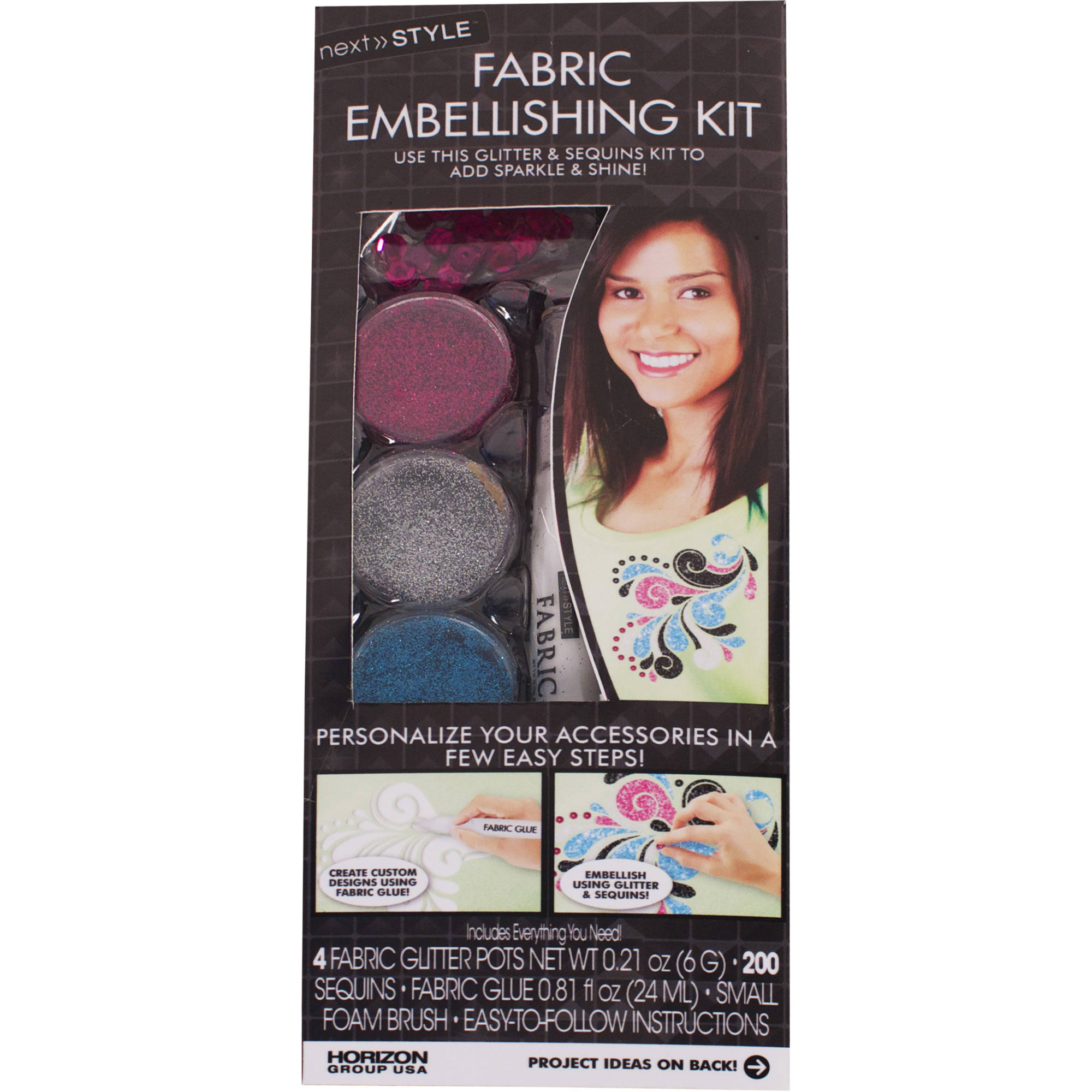Next Style? Fabric Embellishing Kit by Horizon Group USA