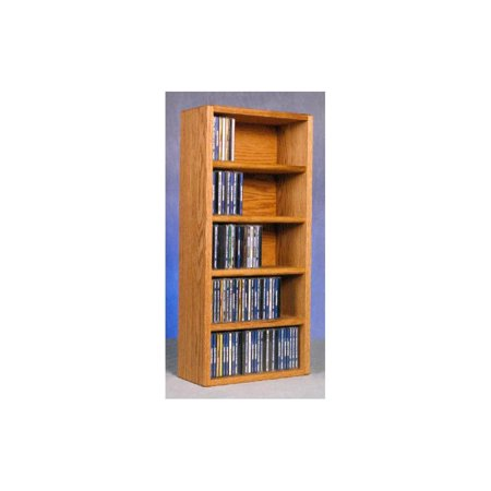 Solid Oak CD Storage Rack (Honey Oak)