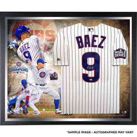 big sale 26639 7332d Javier Baez Chicago Cubs Fanatics Authentic 2016 MLB World Series Champions  Framed Autographed Majestic White Replica World Series Jersey Collage - No  ...