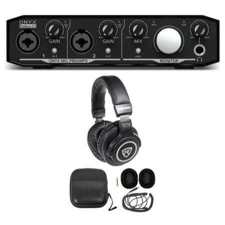 Mackie Onyx Producer 2.2 2x2 USB MIDI Recording Studio Interface + Headphones Mackie Onyx Recording