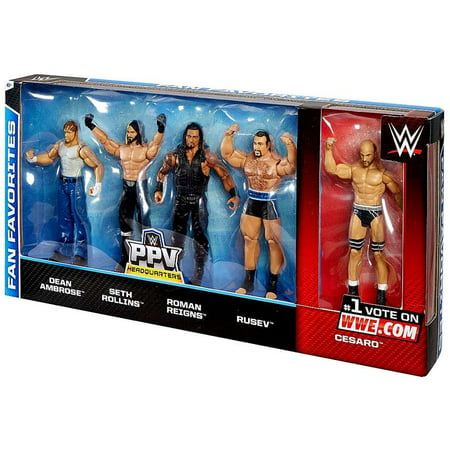 Roman Reigns Kids (WWE Fan Favorites Action Figure 5-Pack Dean Ambrose, Seth Rollins, Roman Reigns, Rusev &)