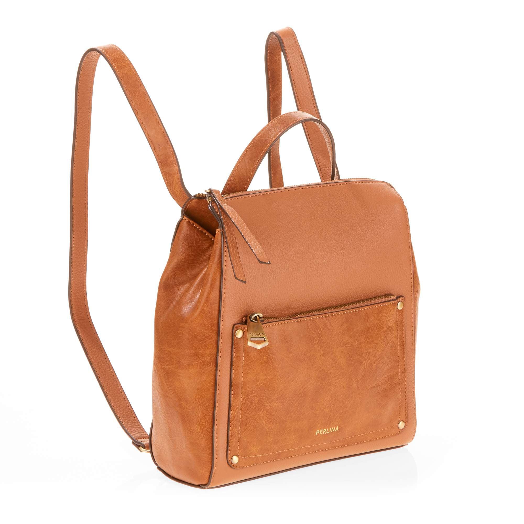 f423f5ea1ee9 Perlina - Judi Convertible Small Leather Backpack - Walmart.com