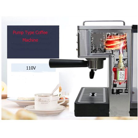 INTSUPERMAI Semi-automatic High Pressure Pump Espresso Coffee Machine Coffee Maker Electric 15bar Specification:Voltage:110VFrequency:60HzPower:1050WTank capacity:0.58 gal(2.2L)Boiler Capacity:150MLPacking Size:11.81*10.83*5.12''(30*27.5*13CM)Package Weight:12Lbs(5.15kg)Item Included(022370):High Pressure Espresso Coffee Machine