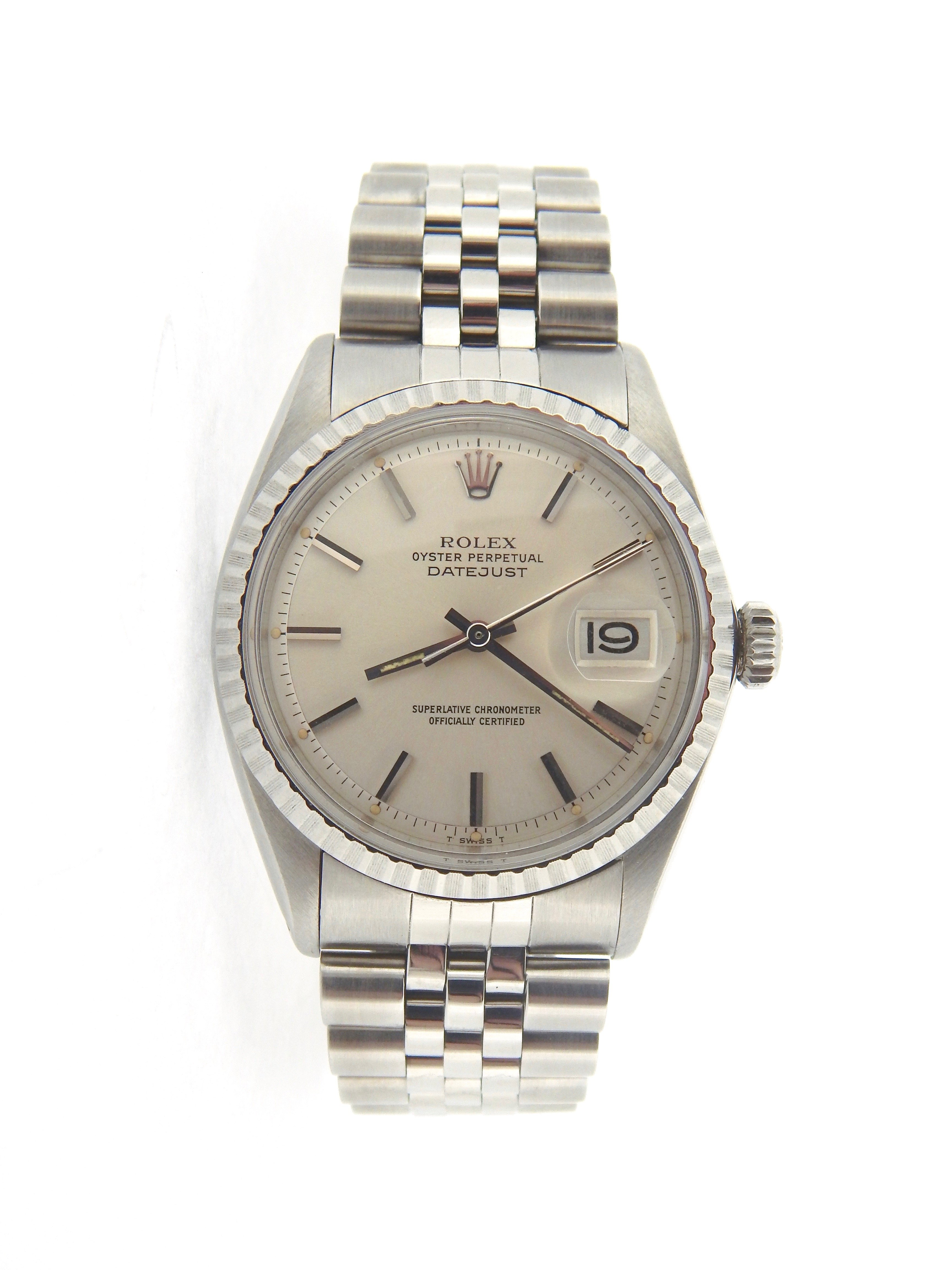 Pre-Owned Mens Rolex Stainless Steel Datejust Silver 1603 (SKU 4025671MT)