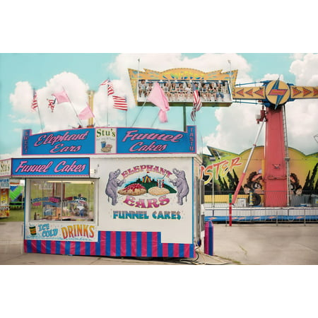 Canvas Print Carnival Fair Concession Stand Summer County Fair Stretched Canvas 10 x 14](Carnival Stand)
