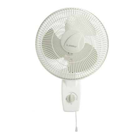 "Lasko 12"" Oscillating Wall Mount 3-Speed Fan, Model #3012, White"