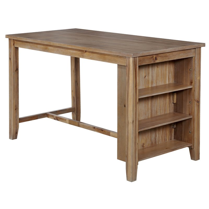 Furniture of America Roxy Dining Table in Weathered Natural Tone