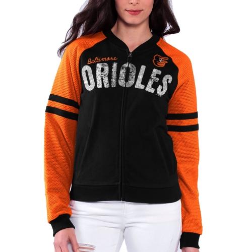 Baltimore Orioles Women's Prime Time Full Zip Jacket - Black