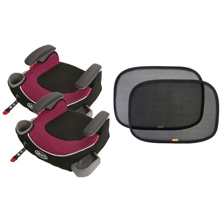 2 graco affix backless booster car seats with free sun shades callie. Black Bedroom Furniture Sets. Home Design Ideas