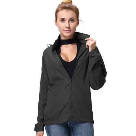 LELINTA Women's Lightweight Jacket UV Protect Quick Dry Outdoor Packable Rain Coat Sun Cover Beach Running Hiking (Best Light Rain Jacket Hiking)