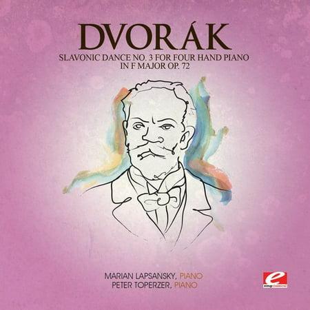 Slavonic Dance 3 Four Hand Piano F Maj 72