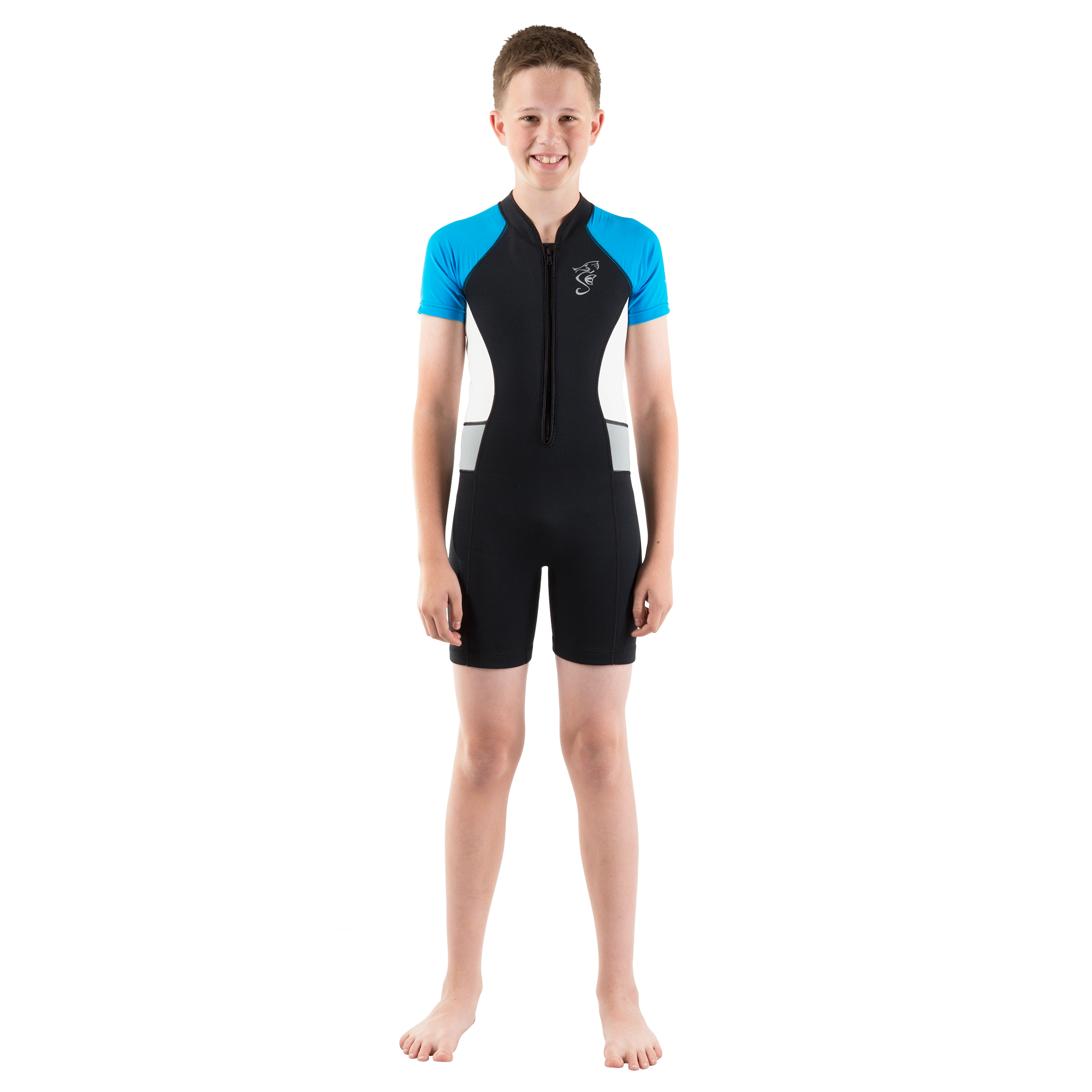 Seavenger Shorty Wetsuit for Kids with 2mm Neoprene and UV Protection, Great for Surfing, Snorkeling, Swimming (Blue, 7... by Seavenger