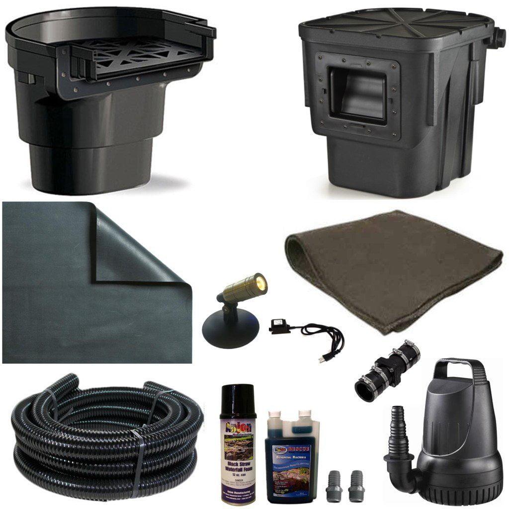 Anjon 20 x 25 PVC Medium Koi Pond Kit 4100 GPH Pump Oasis...