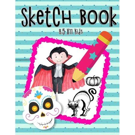Ideas For Halloween Parties At School (Sketch Book 8.5 X11 Kids: Beginning Sketching Books For Kids - Largest Sketch Book Lovers To Halloween Gifts For Kids Under 10)