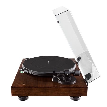 Fluance RT81 Elite High Fidelity Vinyl Turntable Record Player with Audio Technica AT95E Cartridge, Belt Drive, Built-in Preamp, Adjustable Counterweight, Solid Wood Plinth - Walnut - image 5 de 11