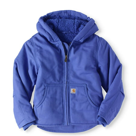 0408590ae Carhartt - Girls' Redwood Sherpa-lined Jacket - Walmart.com