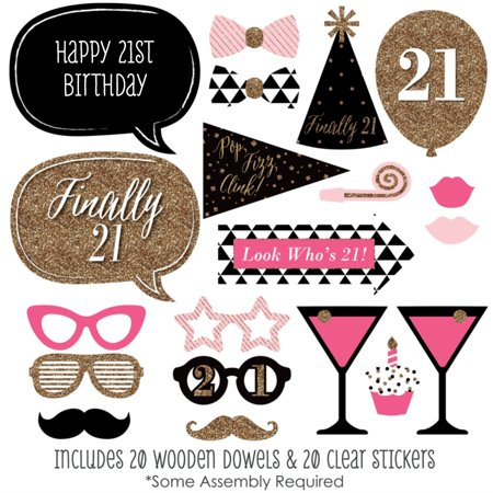 Finally 21 Girl - 21st Birthday Photo Booth Props Kit - 20