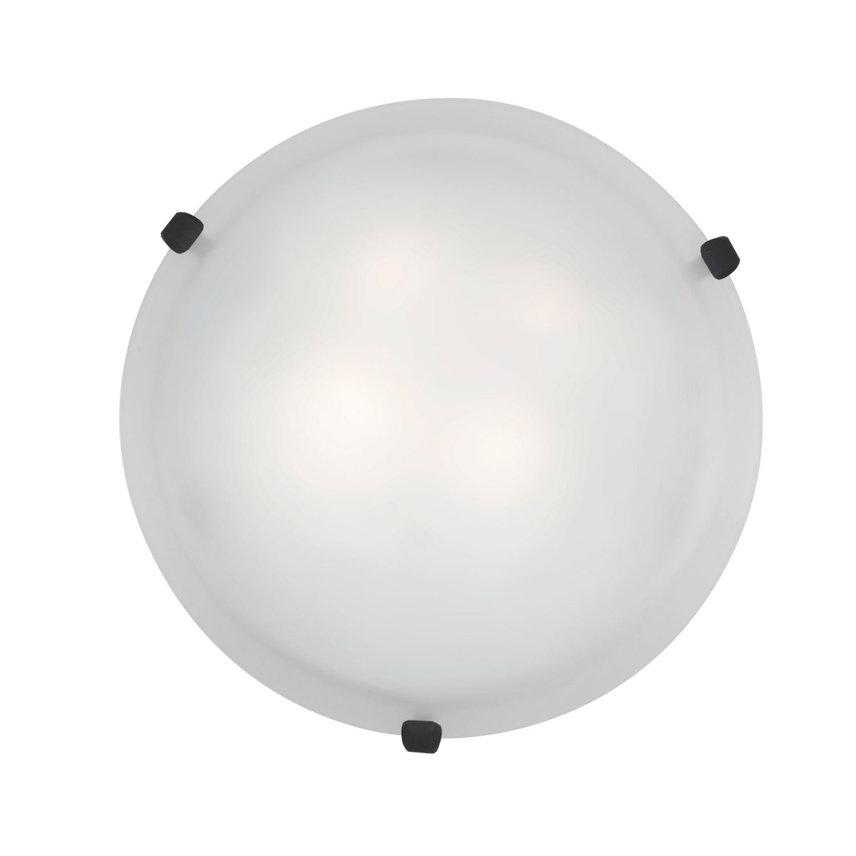 Access Lighting 23020GU-RU WH Mona 2 Light 16 inch Rust Flush Mount Ceiling Light in White by Access Lighting
