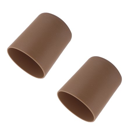 Clover Coffee - Silicone Heat Insulation Glass Cup Mug Protector Cover Sleeve Coffee Color 2 Pcs