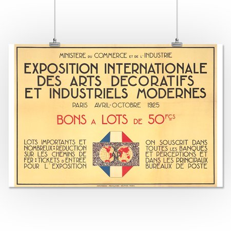 Exposition internationale des arts decoratifs et for Poster decoratif