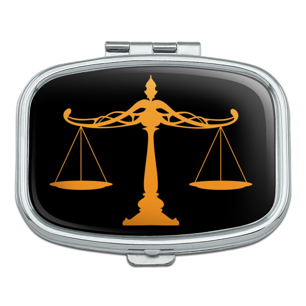 Scales Of Justice Legal Lawyer Rectangle Pill Case Trinket Gift Box