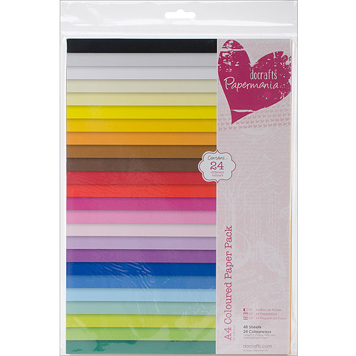 Papermania Paper Pack, A4, 48pk, Coloured