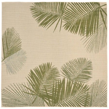 Liora Manne Terrace 1792/66 Palm Green Area Rug 7 Feet 10 Inches  Sq ()