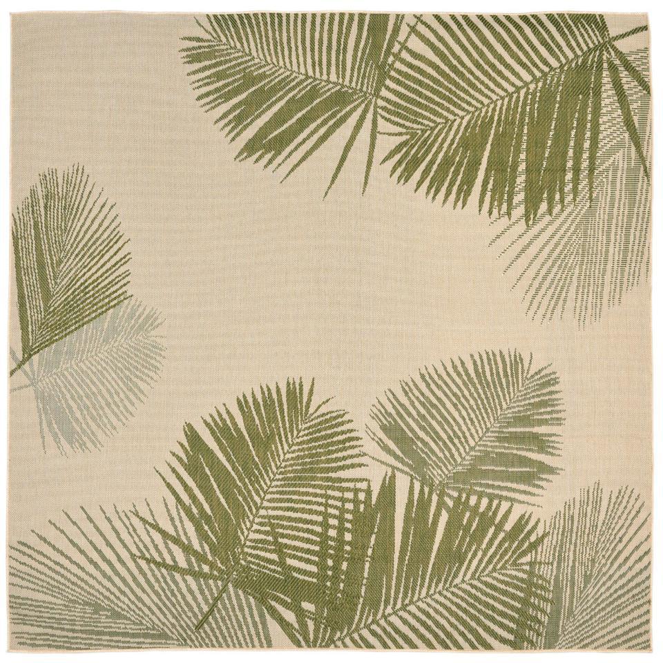 Liora Manne Terrace 1792/66 Palm Green Area Rug 7 Feet 10 Inches  Sq