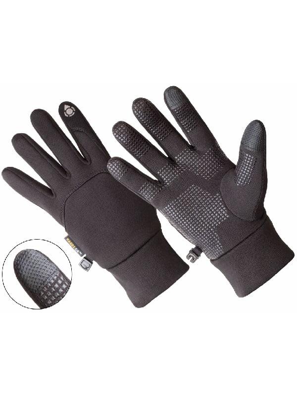 AL1400, Men's Multi-Purpose Athletic Glove, Touch Screen Compatible, Black (One Size Fits Most)