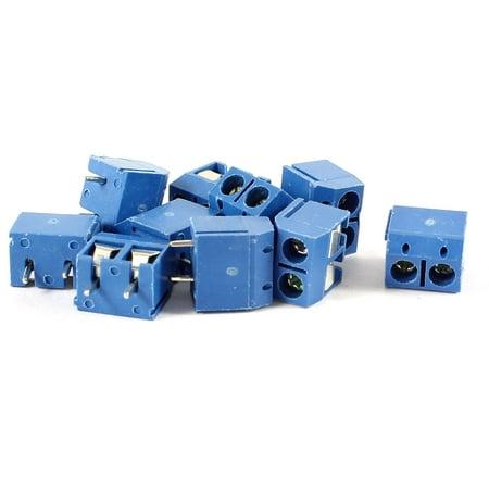 Lot de 10 mm à 2 Broches PCB Vis Bornier Bleu AC 300V 16 A - image 1 de 1