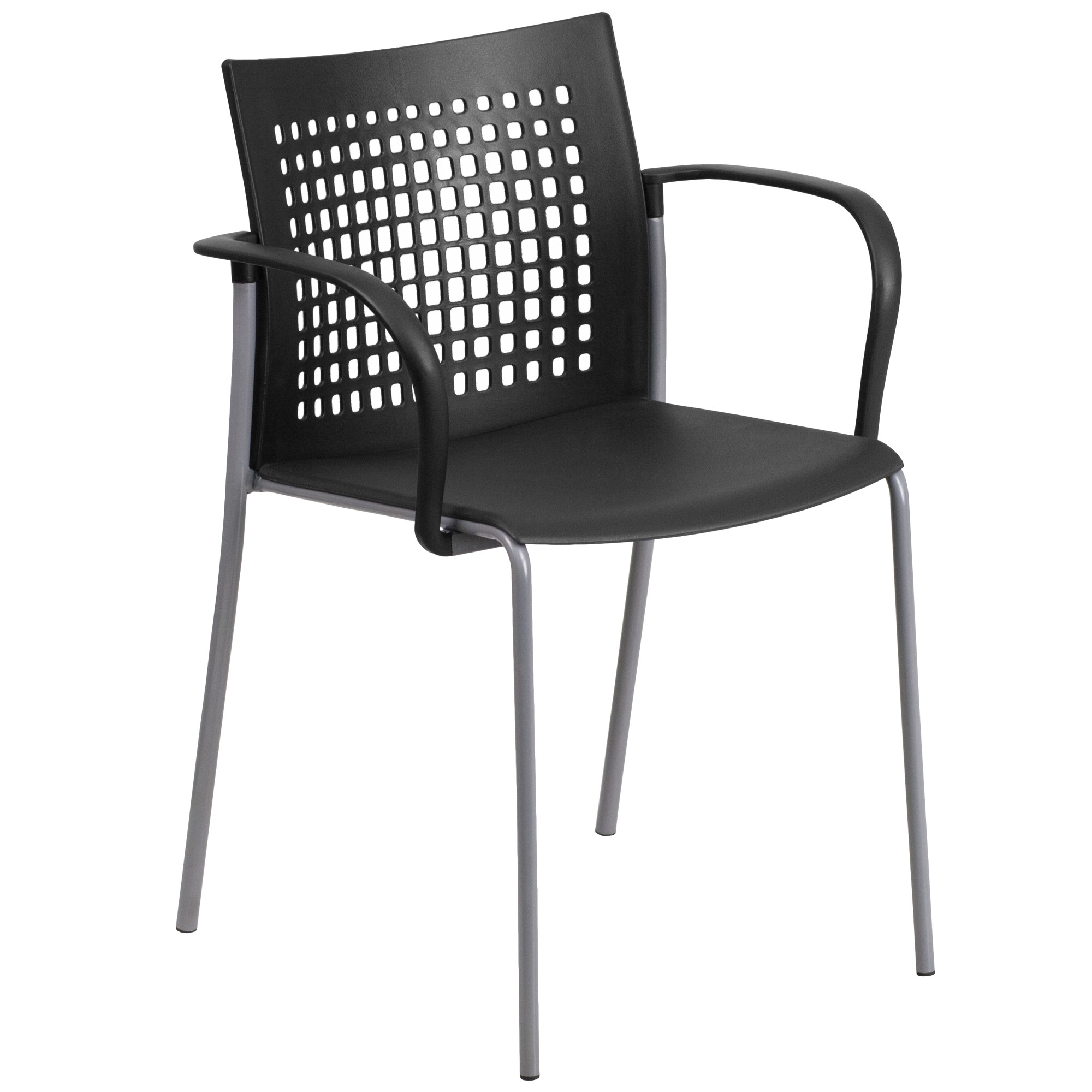 Flash Furniture HERCULES Series 551 lb Capacity Stack Chair with Air-Vent Back and Arms, Multiple Colors