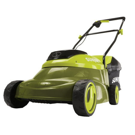 Sun Joe MJ24C-14-XR Cordless Lawn Mower with Brushless Motor, 24-Volt, 5-Amp, 14-Inch