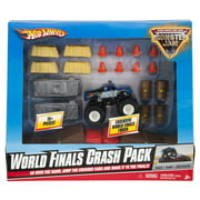 Hot Wheels Monster Jam World Finals Crash Pack - Build your own obstacle course - Includes one Truck