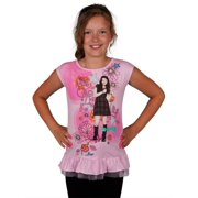 iCarly - Glitter Floral Carly Girls Juvy Dress - Juvy 7/8