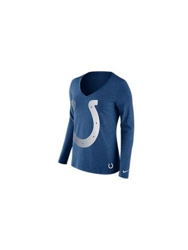 Nike Women's Long-Sleeve Indianapolis Colts Logo Wrap T-Shirt, Size: (M), BLUE by Nike