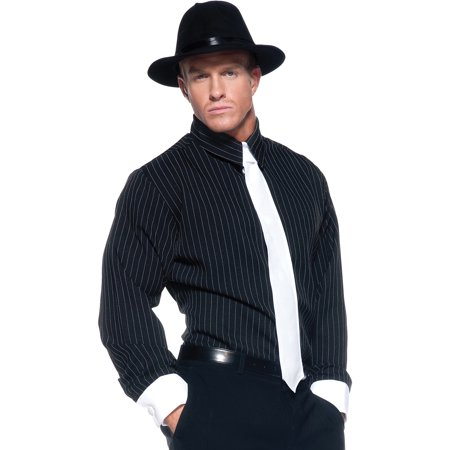 Striped Gangster Shirt Adult Halloween Costume