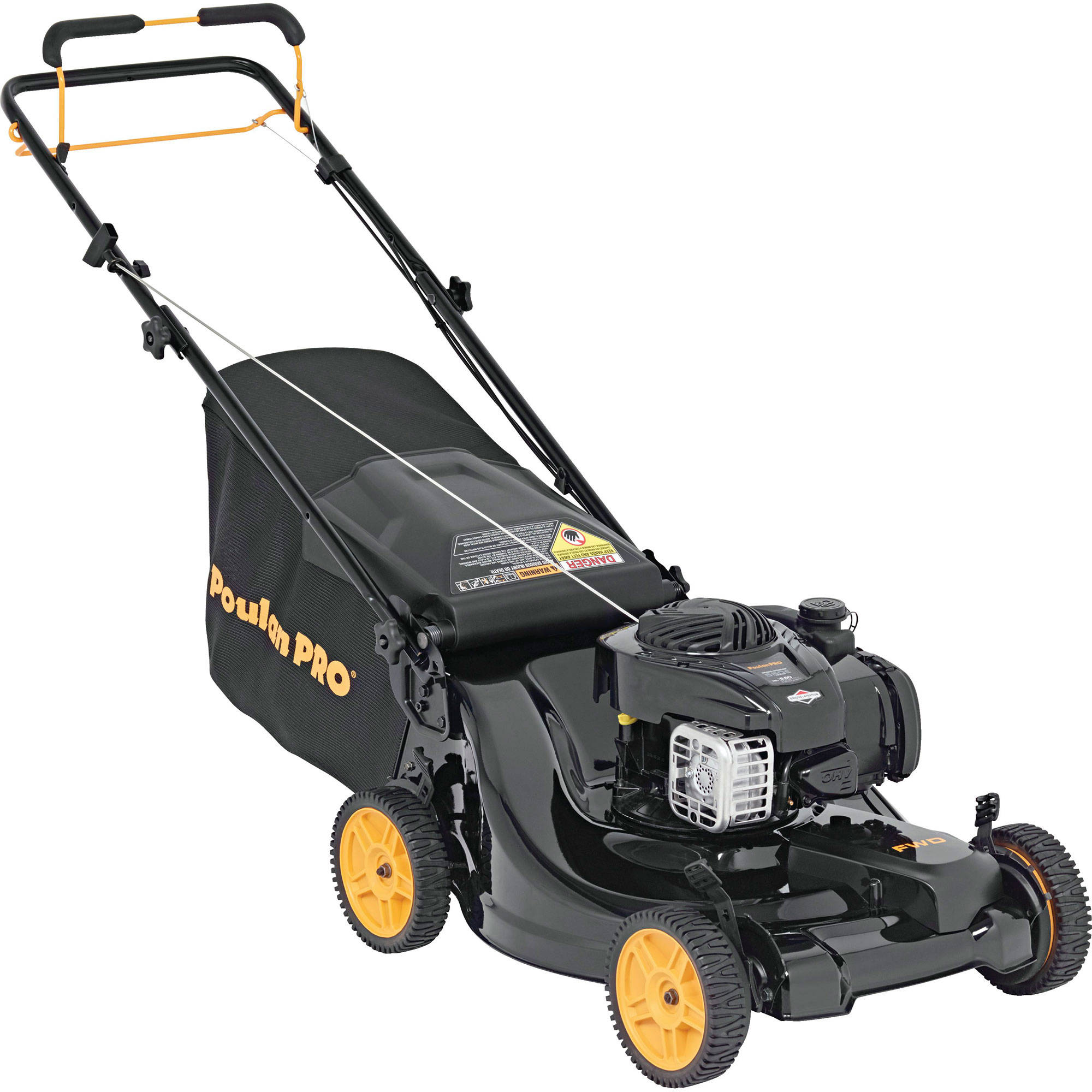 "Poulan Pro 21"" Gas 3-in-1 CleanScape Front Wheel Drive Mower"
