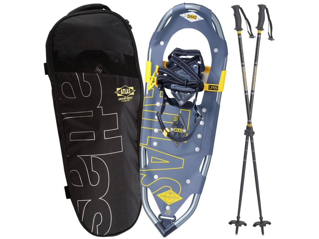 Atlas Snowshoes Rendezvous 25 Snowshoe KIT Color Gray Yellow by Atlas Snowshoes