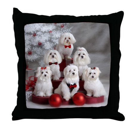 CafePress - Maltese Group Holiday Item - Decor Throw Pillow - Holiday Items