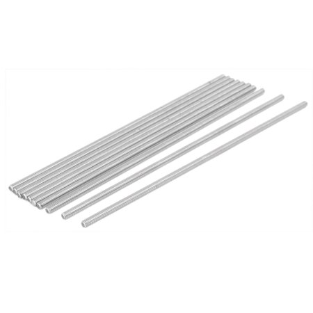 M4 x 170mm 304 Stainless Steel Fully Threaded Rod Bar Studs Fastener 10 Pcs - image 3 of 3