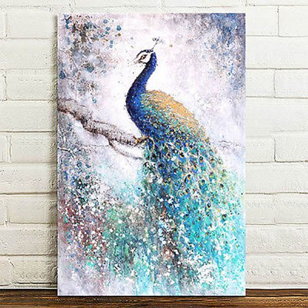 Peacock Gift (40x60cm ( 16''x24'' ) Unframed Print Modern Abstract Peacock Canvas Printing On Canvas Wall Art Picture Home Decor Gift)