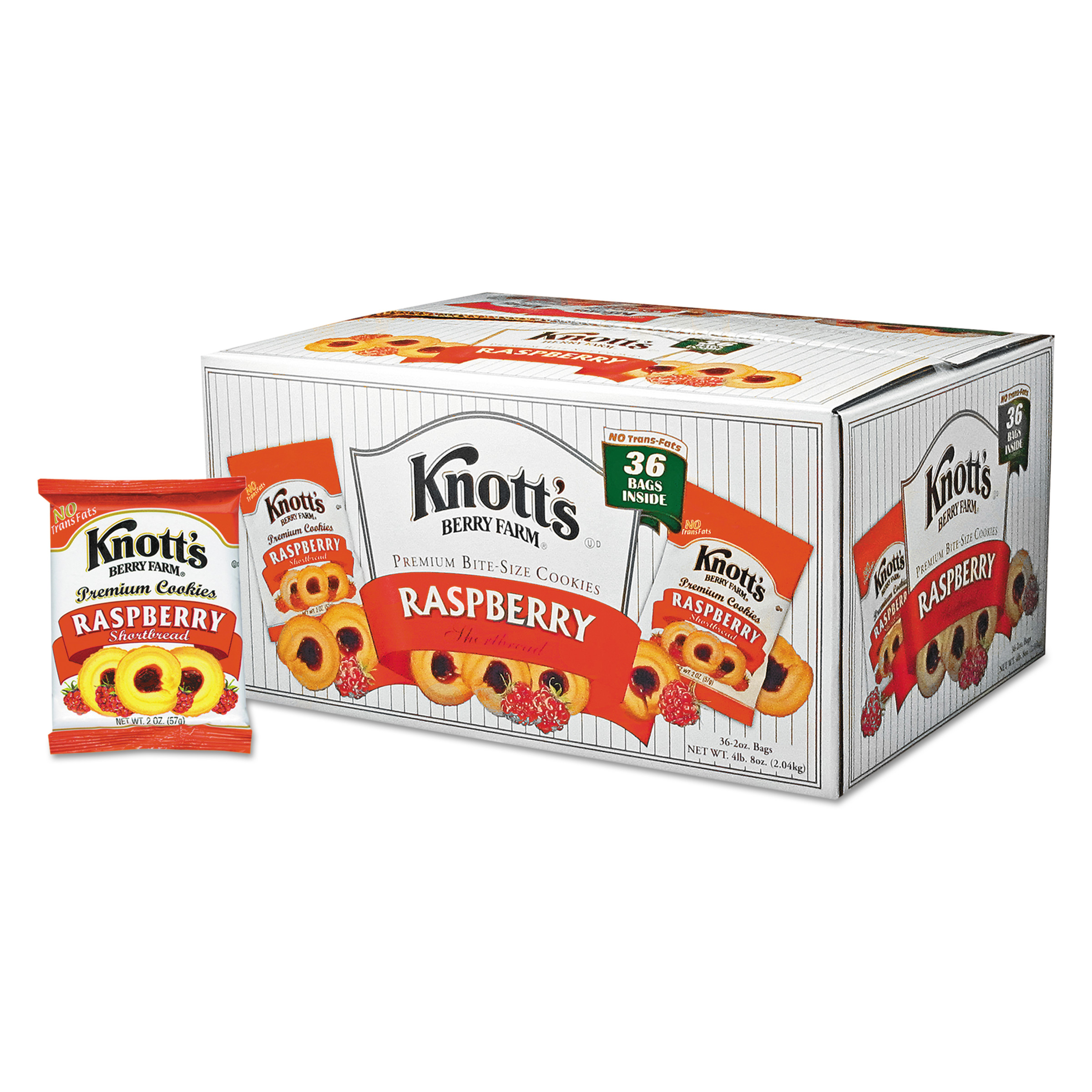 Knott's Berry Farm Raspberry Shortbread Cookies, 2 oz. 36 count by BISCOMERICA CORP.