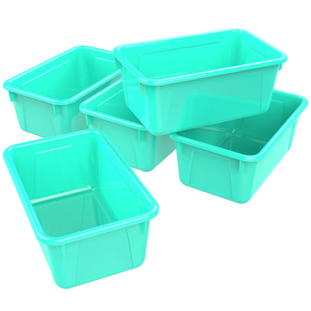 - Storex Small Cubby Bin, Classroom Teal, 5-Pack