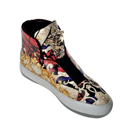 Versace Men S First Idol Leather High Top Sneakers Us 9 It 42