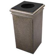 Commercial Zone 722118 30-Gallon StoneTec Waste Container with Lid & Liner - Aspen