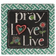 Blossom Bucket 'Pray/Love/Live' Box Sign Wall D cor