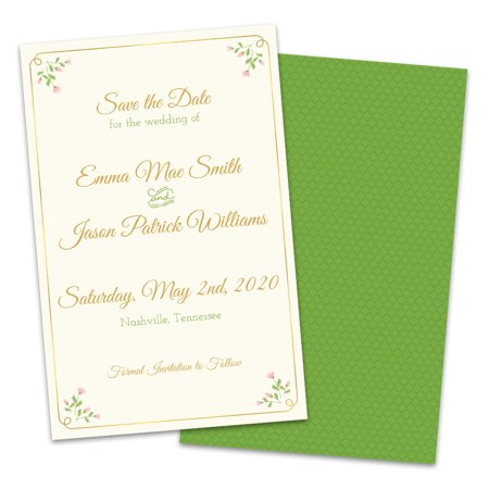 Personalized Sweet Floral Save The Date (Sweet Pea Announcements)